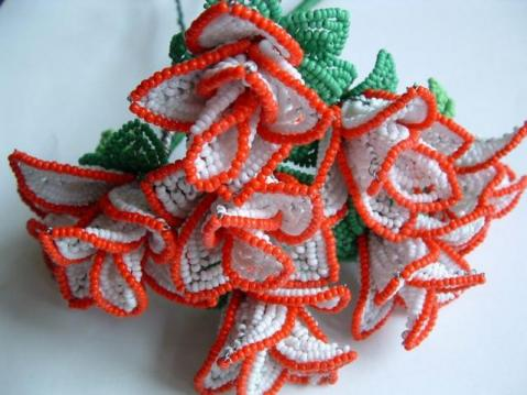 Урок5: чашелистик PART 1 Как сделать розу из бисера / How to make a rose out of beads.